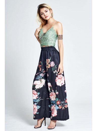 Acadia Floral Lace Camisole in Green