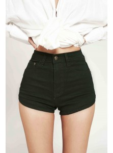 Faye Denim Shorts in Olive