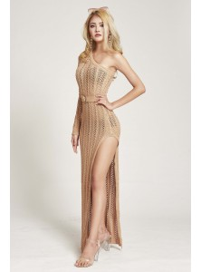 Niccola Toga Knit Dress in Nude