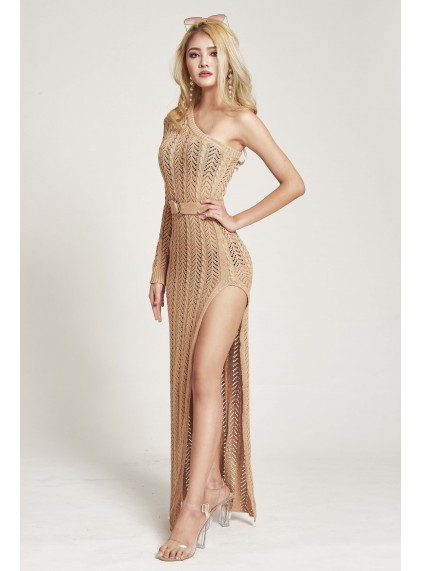 8cf4a1344842 Niccola Toga Knit Dress in Nude (Size S/M on Backorder)