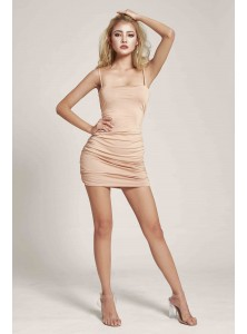 Rochella Bodycon Dress in Nude