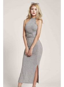 Dreye Knit Midi Dress in Grey