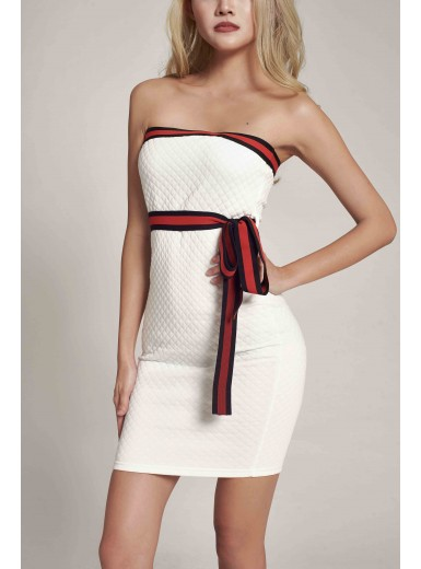 Iliana Quilt Bandeau Dress