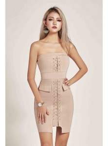 Pandora Lace-up Dress