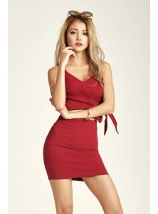 Kashton Bodycon Co-ord Set in Wine