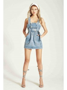Nichole Denim Dungaree (Size S/M on Backorder)