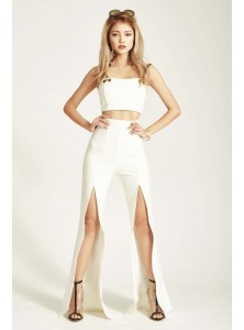 Devvon Co-ord Pants in White (Backorder)