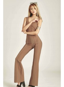 Evangelia Textured Jumpsuit