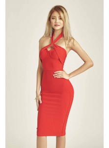 Beverley Bodycon Halter Dress (Size M & L on Backorder)