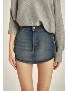 Vivi Stripe Denim Skorts
