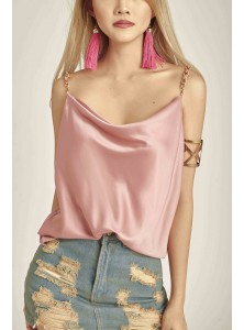 Asha Cowl Neck Top in Rose (Backorder)