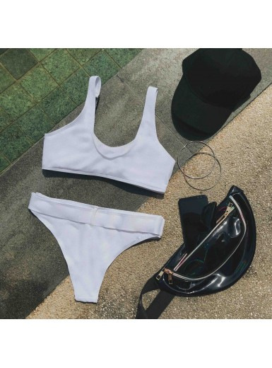 Katia Buckled Bikini Set in White