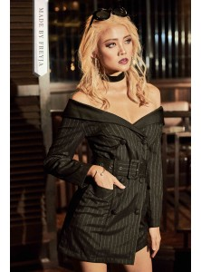 Hera Off Shoulder Blazer Dress