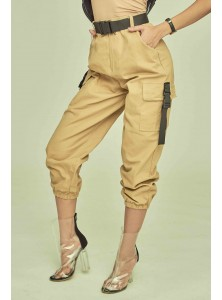 Zaiden Cargo Pants in Khaki (Backorder)