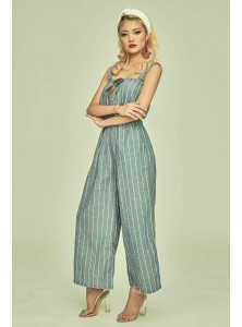 Nat Striped Linen Jumpsuit