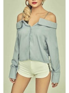 Indre Chained Cold Shoulder Top