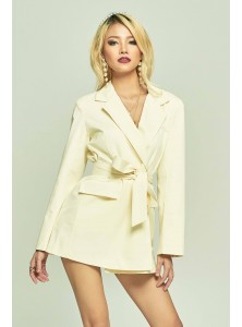 Merce Blazer Dress in Cream