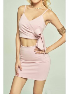 Kashton Bodycon Co-ord Set in Pink