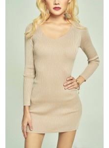 Caily Long Sleeved Knit Dress