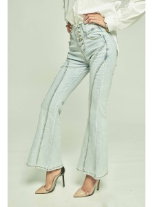 Zahra Bell Bottom Denim Pants
