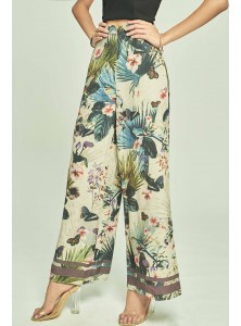 Nadette Printed Palazzo Pants (Size S on Backorder)