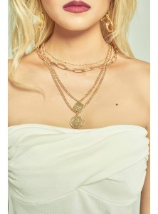 Louis Chunky Multi Layer Necklace