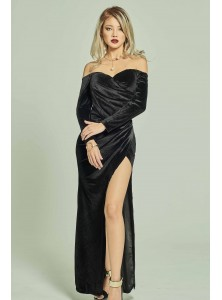 Monq Velvet Off Shoulder Dress