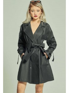 Roberta Trench Dress in Black