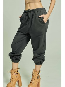 Zaq Cotton Sweatpants in Black