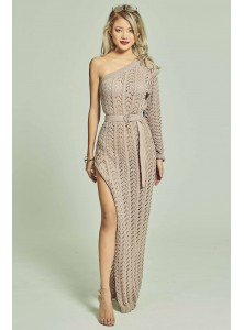 Niccola Toga Knit Dress in Dusty Pink