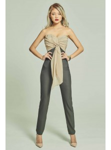 Dashiell Asymmetrical Draped Jumpsuit