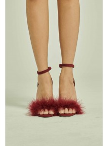 Chevette Fur Stilettos in Wine (Size 36, 37 & 38 Available, all other sizes on Pre-Order)