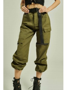 Dune Cargo Pants in Army Green