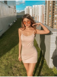 Nellie Basic Cami Dress in Nude