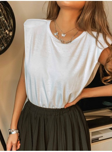 Colson Volume Shouldered Tee in White