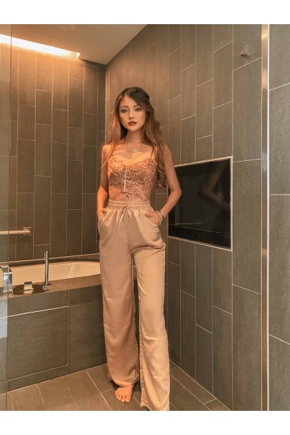 Bless Floral Lace Camisole in Bronze