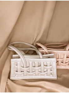 Liliane Weaved Bag in Cream