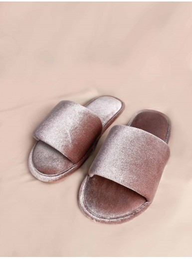 Aquene Velvet Cushioned Home Slippers