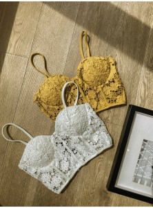 Haruki Lace Bustier Top in White
