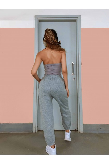 Abel Cotton Joggers in Grey