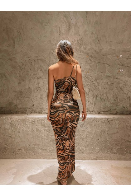 Katarina Leopard Print Maxi Dress