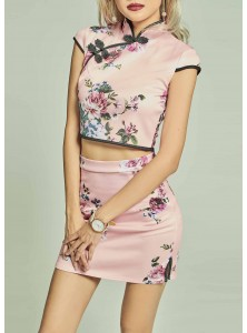 Meir Floral Co-ord Qipao Set (Size S on Backorder)
