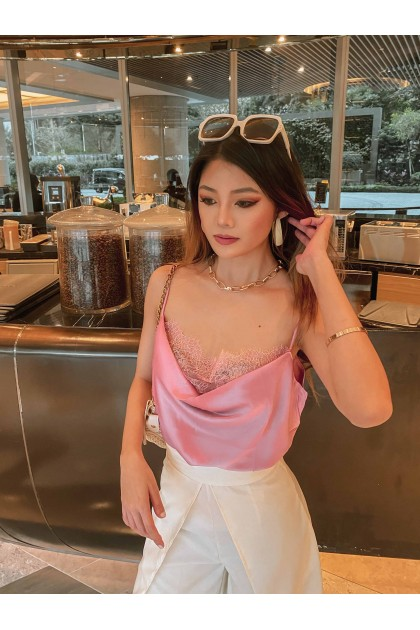 Kayre Lace Camisole in Flamingo Pink