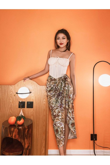Pernille Floral Wrap Skirt