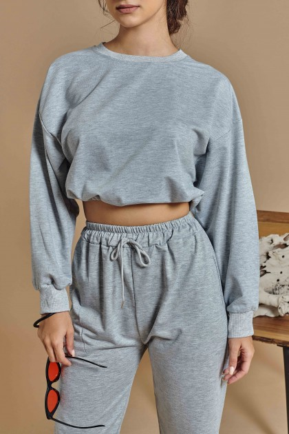 Channing Oversized Sweatpants in Stone Grey