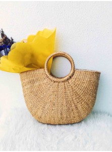Keoni Wicker Basket Tote