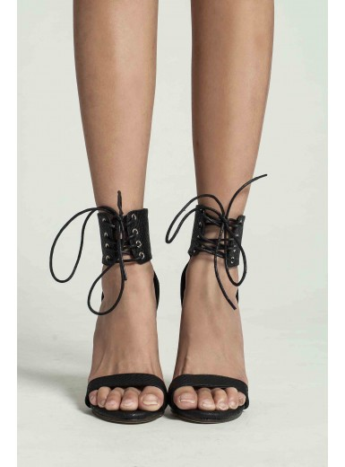 Valencia Lace-up Ankle Stilettos (Pre-Order)