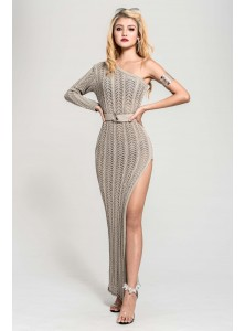 Niccola Toga Knit Dress in Thunder Grey