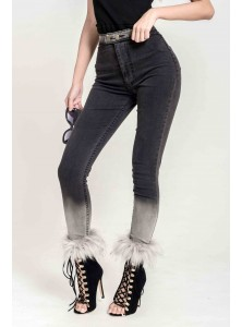 Barilo Fur Denim Pants