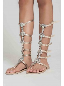 Taj Rhinestone Gladiator Sandals (Sizes 37 in Stock, Other Sizes on Pre-order)